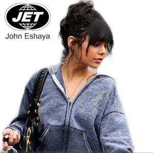 JET John Eshaya ROCK Graphic Zip Front Hoodie